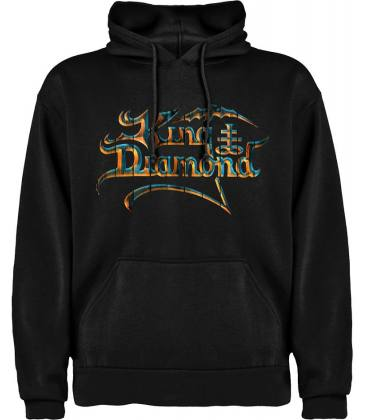 King Diamond Logo Sudadera con capucha y bolsillo