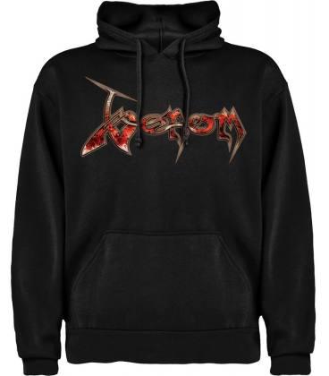 Venom Logo Sudadera con capucha y bolsillo