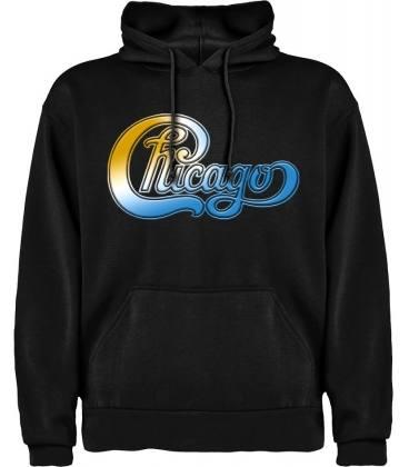 Chicago Logo Sudadera con capucha y bolsillo