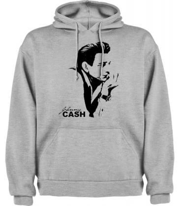 Johnny Cash Sudadera con capucha y bolsillo
