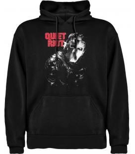 Quiet Riot Sudadera con capucha y bolsillo