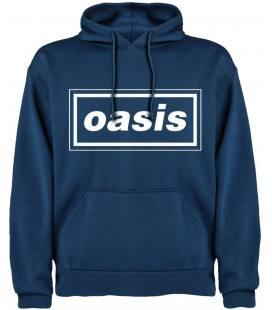 Oasis Logo Sudadera con capucha y bolsillo