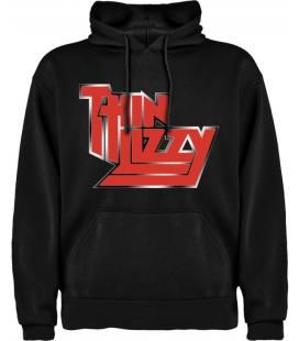 Thin Lizzy Logo Sudadera con capucha y bolsillo