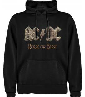 AC/DC Rock Sudadera con capucha y bolsillo