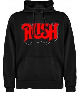 Rush logo Sudadera con capucha y bolsillo
