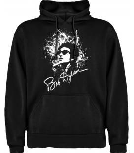 Bob Dylan Face Sudadera con capucha y bolsillo