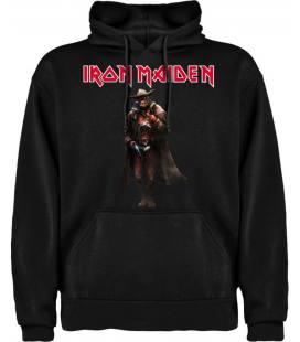 Iron Maiden-Eddie Vaquero Sudadera con capucha y bolsillo
