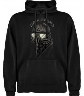 Black Sabbath Mask Sudadera con capucha y bolsillo