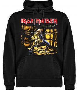 Iron Maiden Piece Of Mind Sudadera con capucha y bolsillo