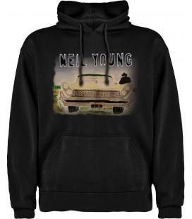 Neil Young Storytone Sudadera con capucha y bolsillo