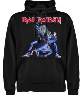 Iron Maiden Eddie Zarpa Sudadera con capucha y bolsillo