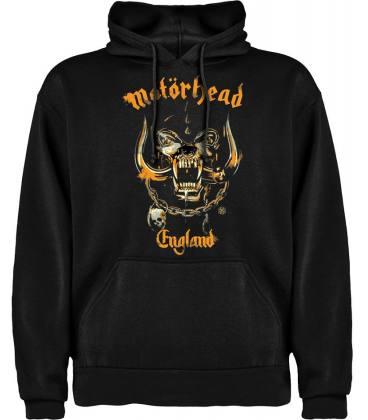 Motörhead England Yellow Sudadera con capucha y bolsillo