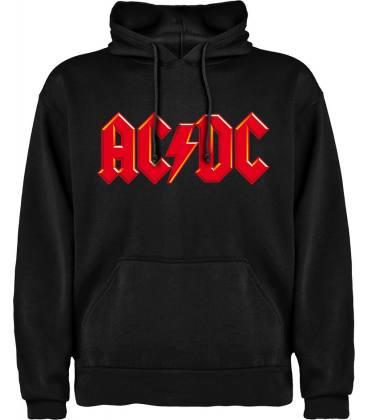 AC/DC Logo Red Sudadera con capucha y bolsillo