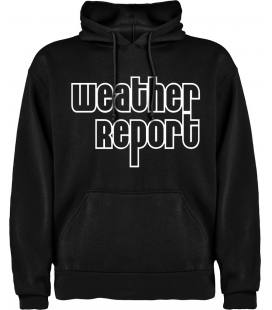 Weather Report Logo Sudadera con capucha y bolsillo