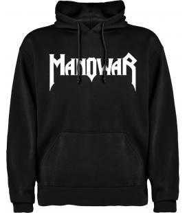 Manowar Logo Sudadera con capucha y bolsillo