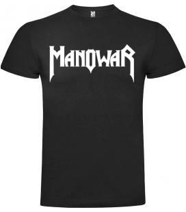 Manowar Logo Camiseta Manga Corta Bandas