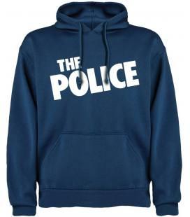 The Police Logo Sudadera con capucha y bolsillo. Talla L