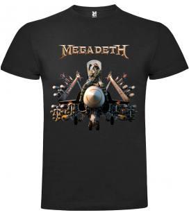 Megadeth Bomb Camiseta Manga Corta Bandas