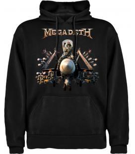Megadeth Bomb Sudadera con Capucha y Bolsillo Bandas