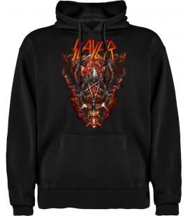 Slayer Mask Sudadera con capucha y bolsillo