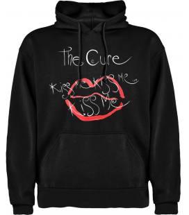 The Cure Kiss Me Sudadera con capucha y bolsillo