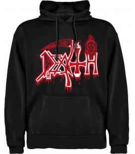 Death Logo Sudadera con capucha y bolsillo