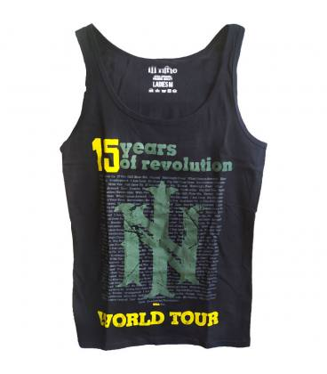 ill niño - 15 Years Of Revolution - Camiseta Mujer Tirante ancho Negra - Talla M
