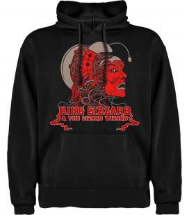 King Gizzard & The Lizard Wizard Logo Sudadera con capucha y bolsillo