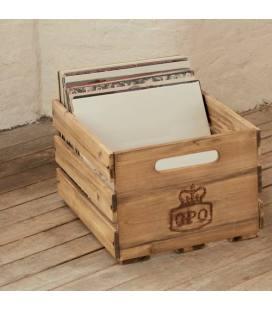 """Caja """"Cassa"""" de Madera para 100 vinilos 12"""""""