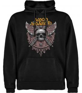 Amon Amarth Skull Sudadera con capucha y bolsillo