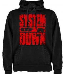 System Of A Down Logo Sudadera con capucha y bolsillo