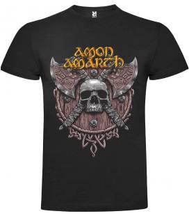 Amon Amarth Skull Camiseta Manga Corta Bandas