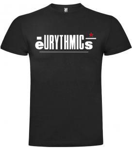 Eurythmics Logo Camiseta Manga Corta Bandas