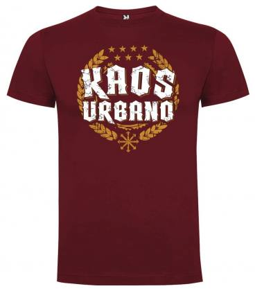 Camiseta Kaos Urbano Logo Laureles, Granate