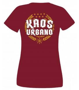 Camiseta Kaos Urbano Logo Laureles, Chica Granate