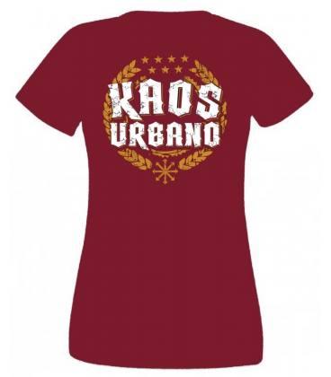 Camiseta Kaos Urbano Logo Laureles, Chica Granate