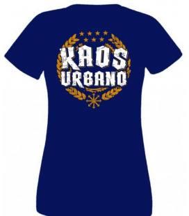 Camiseta Kaos Urbano Logo Laureles, Chica Azul Marino