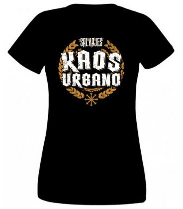Camiseta Kaos Urbano Logo Laureles Salvajes Negro