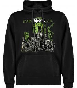 Misfits Earth A.D. Sudadera con capucha y bolsillo