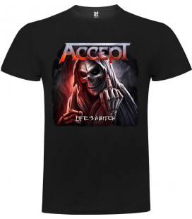Accept - Life's A Bitch Camiseta Manga Corta Bandas
