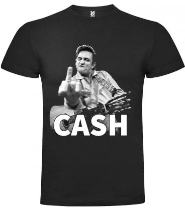 Johnny Cash Finger Camiseta Manga Corta Bandas