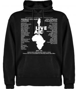 Live Aid Festival Cartel Sudadera con capucha y bolsillo