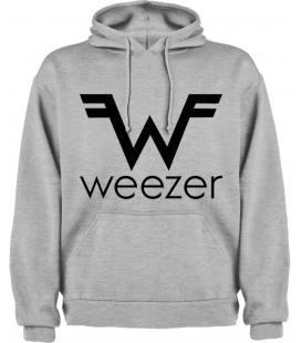 Weezer Logo Sudadera con capucha y bolsillo