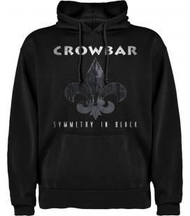 Crowbar Symmetry In Black Sudadera con capucha y bolsillo