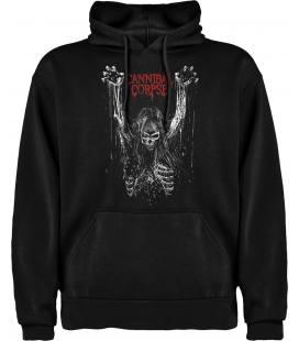 Cannibal Corpse Skull Sudadera con capucha y bolsillo