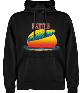 Led Zeppelin London Sudadera con capucha y bolsillo