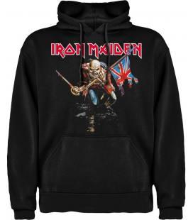 Iron Maiden The Trooper Sudadera con capucha y bolsillo