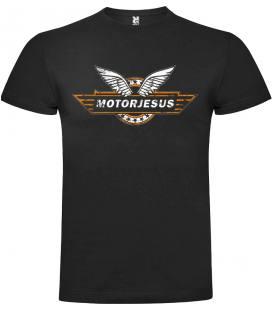 Motorjesus Logo Camiseta Manga Corta Bandas