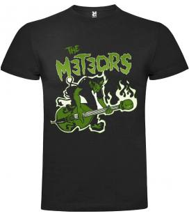 The Meteors Burning Camiseta Manga Corta Bandas