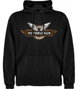 Motorjesus Logo Sudadera con capucha y bolsillo